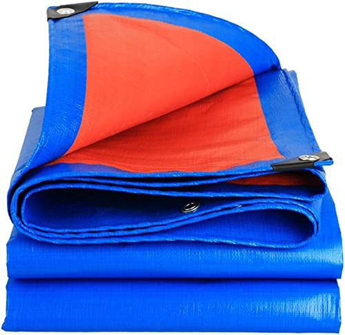 Bache Bache imperméable à l'eau de prougeection solaire en polyéthylène de tissu dans la famille Poncho camping extérieur tissu de pluie, bleu + Orange, épaisseur 0,35 mm, 180g   m2, 16 options de taill