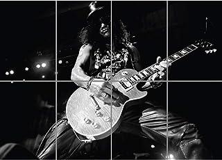 SLASH GUNS AND ROSES ROCK MUSIC GIANT ART PRINT POSTER PICTURE BLACK WHITE G1066