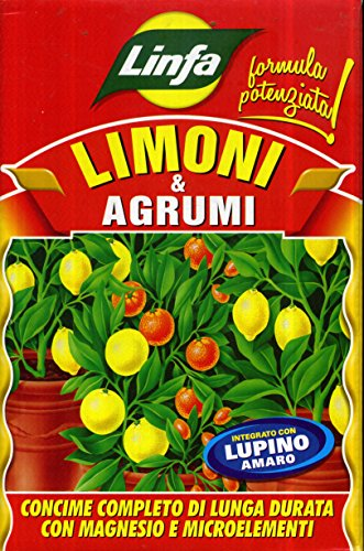 LINFA Engrais pour Citrons et Agrumes Organo-minéral à élevée Fertilita 'Biologique en boîte de 1 kg
