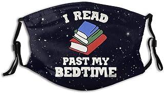 Promini 'I Read Past My Bedtime' personlig munärm återanvändbar munskydd