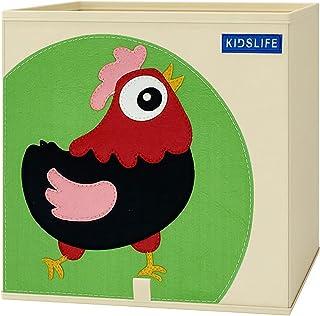 Parshall Boîte de rangement pliable pour jouets de dessin animé, légère et portable pour organiser les jouets, livres, vêt...
