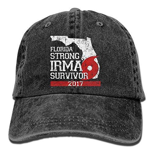 Huracán Irma Florida Fuerte Irma Survivor Unisex Ajustable Algodón Denim Sombrero Lavado Retro Gimnasio Sombrero Gorra Sombrero