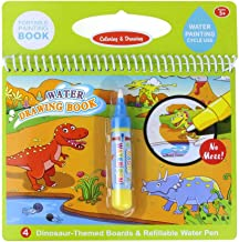 Jenilily Water Drawing Book Coloring Book Doodle with Magic Pen Painting Board for Children Education Drawing Toy (E Dinosaur World)