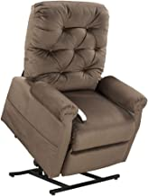 Mega Motion Lift Chair Easy Comfort Recliner LC-200 3 Position Rising Electric Power Chaise Lounger - Chocolate Brown Color Fabric