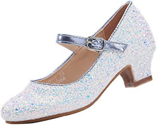 EIGHT KM EKM7015 Girls Mary Jane Low Heel Cinderella Light Blue Court Shoes 10 UK Little Kid