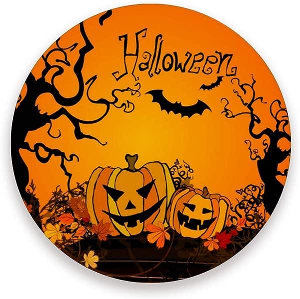 Baofu Halloween Coasters Colorful Absorbent Moisture Non Slip Drink Coaster Modern Art Marble Ceramic Stone With Cork Base Desktop Protection Prevent Furniture Damage 4PCS