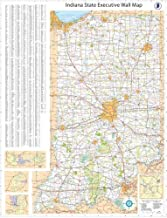 48x72 Indiana State Official Executive Laminated Wall Map