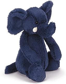 Jellycat Bashful Blue Elephant Stuffed Animal, Medium, 12 inches