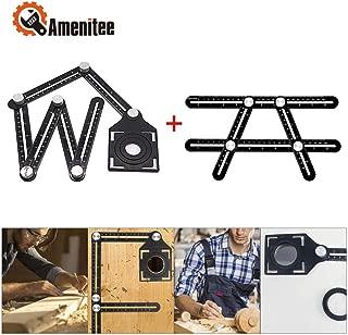 Amenitee Angle Measuring Tool - Universal Angularizer Ruler - Full Metal Multi Angle Measuring Tool-Upgraded Aluminum Alloy Ruler