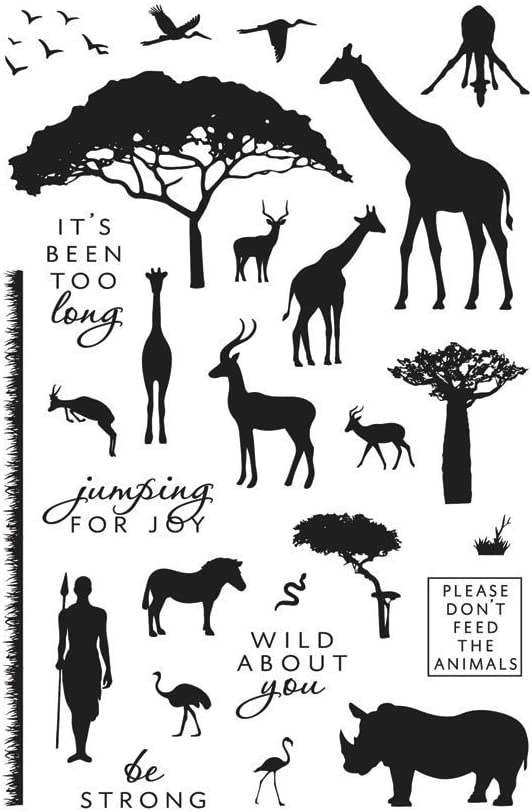 Hero Arts Safari Wild About You Clear Stamps, Multicolor