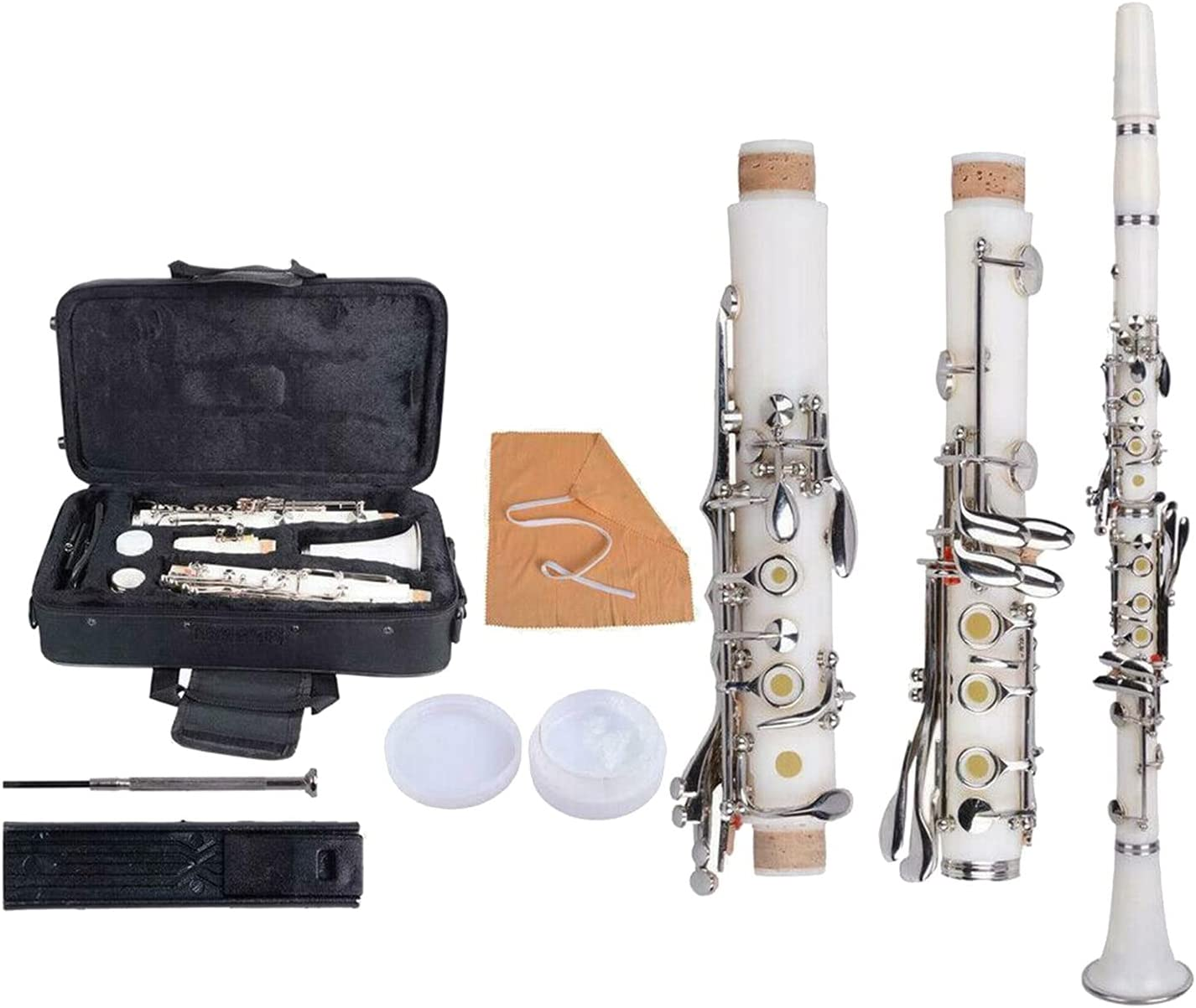 Clarinet B Flat with Sales Spasm price Case Musical Instruments Woo Reeds