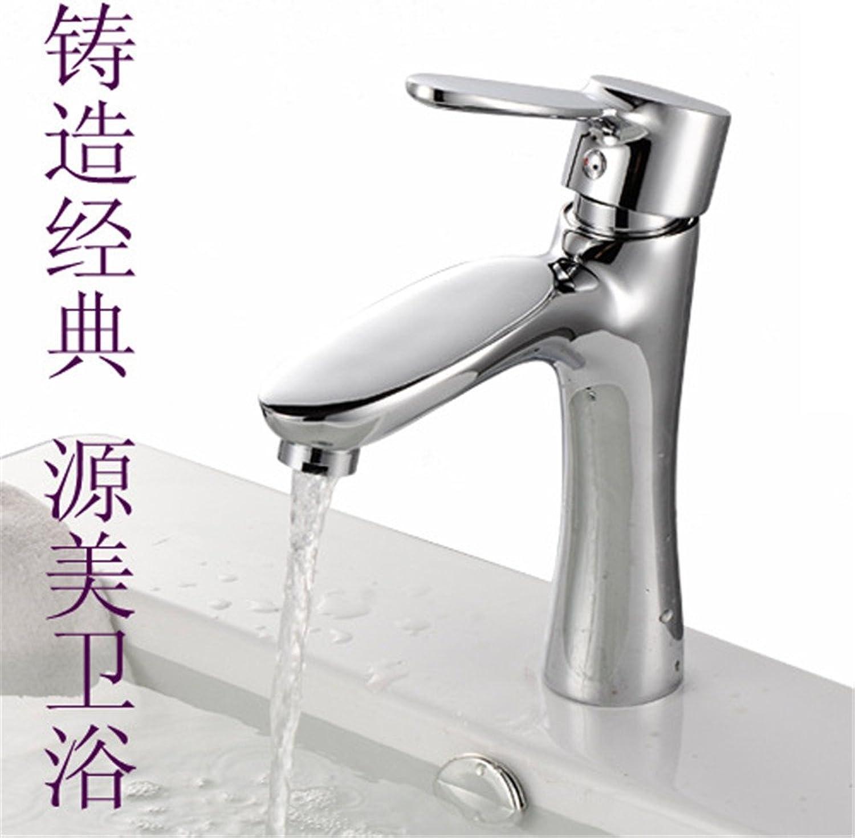 Kokeruup Copper wash Faucet Bathroom Bathroom Basin wash Basin Single Handle Single Hole Sitting hot and Cold Faucet