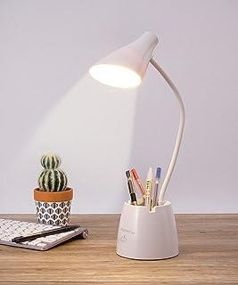 چراغ رومیزی ، میز کار با 3 حالت رنگی ، قابل تنظیم شدن و مراقبت از چشم ، چراغ میز تحریک شده با پورت شارژ USB ، نگهدارنده قلم و پایه تلفن ، چراغ مطالعه قابل انعطاف 360 درجه برای اتاق خواب و دفتر