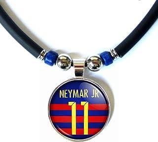 SpotlightJewels Neymar Jr. Glass Soccer Jersey Necklace 2015-16