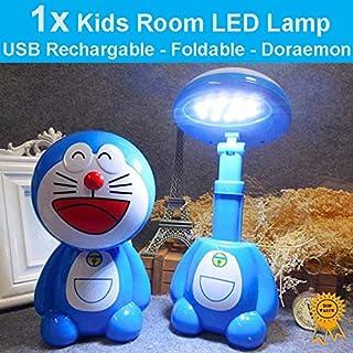 1x USB Rechargeable Foldable Kids Room LED Desk Lamp Night Lights - Doraemon