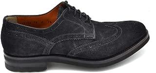 SANTONI Luxury Fashion Mens MCBI37139 Blue Lace-Up Shoes | Season Outlet