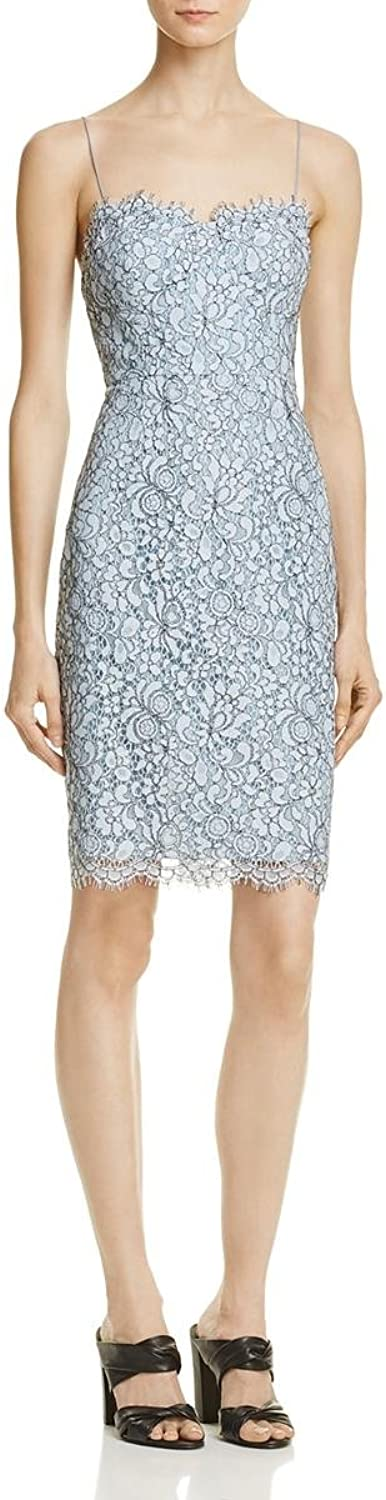 Likely Womens Spruce Lace Back Slit Cocktail Dress