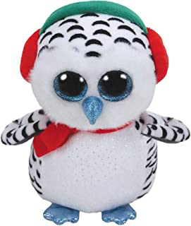 Ty, Schneeeule 24cm Beanie Boos Nester-Búho 23cm-Navidad, color blanco (36424TY) , color/modelo surtido
