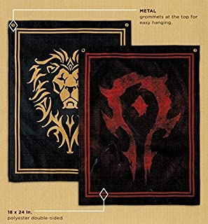 Warcraft Horde/Alliance Double-Sided Flag Loot Crate Gaming May 2016 Exclusive