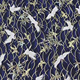 Furoshiki - Japanese Traditional Printed Fabric Wrapping (Bamboo and Crane)