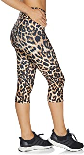 Rockwear Activewear Women's 3/4 Squad Print Tight Leopard 6 from Size 4-18 for 3/4 Length High Bottoms Leggings + Yoga Pan...