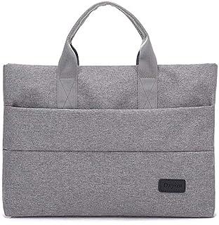 YUMILI Business Briefcase Laptop Bag Neutral Handbag Multi-Functional Waterproof and Shockproof (Color : Grey)