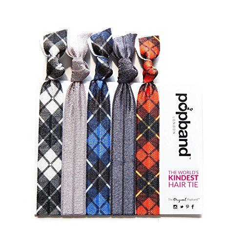 Popband Tartan - Paquet de 5 Élastiques à Cheveux Popbands