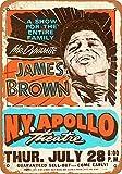 James Brown at The Apollo Theater Vintage Aluminum Metal