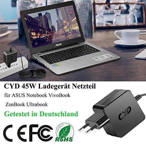 CYD 45W 19V 2.37A Notebook-Netzteil für Asus laptop ladekabel X401 X401A X401U X501 X501A X502C X502CA X550 X550C X550L X550LA X550LB X550LNV X550ZA X551 X551C X551M X551MA X551MAV X751MA Q301 Q301L