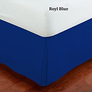 Fancy Collection Queen Size Easy Care Tailored Microfiber 14-inch Bed Skirt Solid Royal Blue