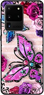 For Samsung S20 Ultra Case Cover Pink & Purple Flowers and Butterflies