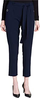 Womens Sash-Belt Casual Trousers