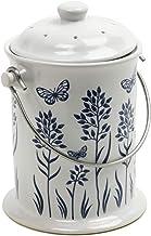 Norpro 3-Quart Ceramic Compost Keeper, Blue and White