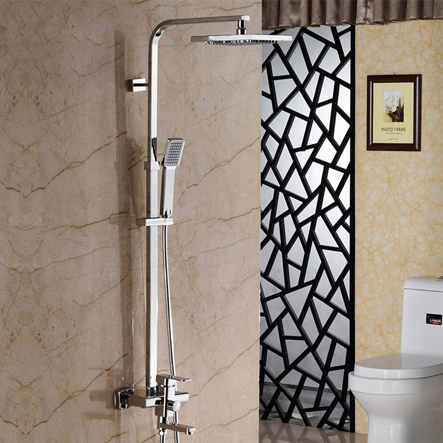 Full copper shower Faucet suit European style shower Hot and cold faucet Set shower Device