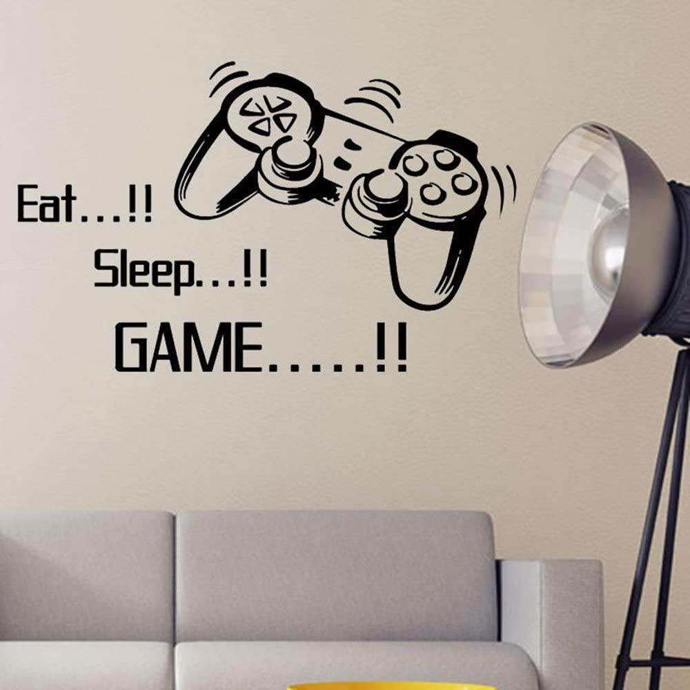 RYGHEWE Wall Stickers for Living Room Game Free New Orleans Mall shipping New Eat Sleep E - Decor