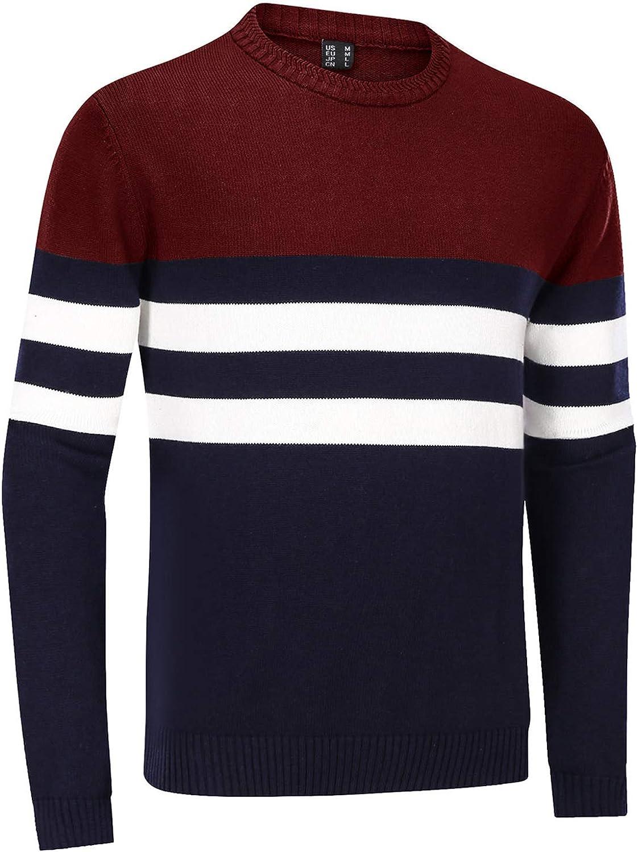 TACVASEN Men's Spasm price Sweater 2021 autumn and winter new Crewneck Warm Classic Str Cotton Pullover