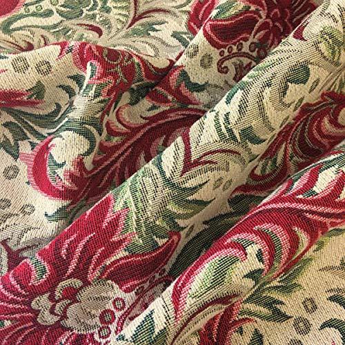 Tessuto arredo al metro - Gobelin - Tappezzeria - 280 cm di larghezza - prezzo per 50 cm | I damascado - Rosso, verde, beige