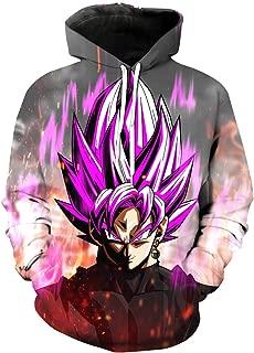 Men's Fashion Hoodies Sweatshirt Japanese Anime Pullover Inspired by Dragon Ball