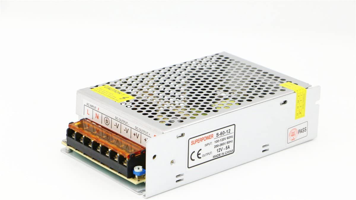 Fuente de alimentación universal de conmutación Cortocircuito cortocircuito y sobrecarga AC100-260V DC12V 2A-50A