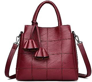 AINUOEY Damen Umhängetaschen Frau Handtaschen Schultertaschen Lack PU-Leder Elegant Tote