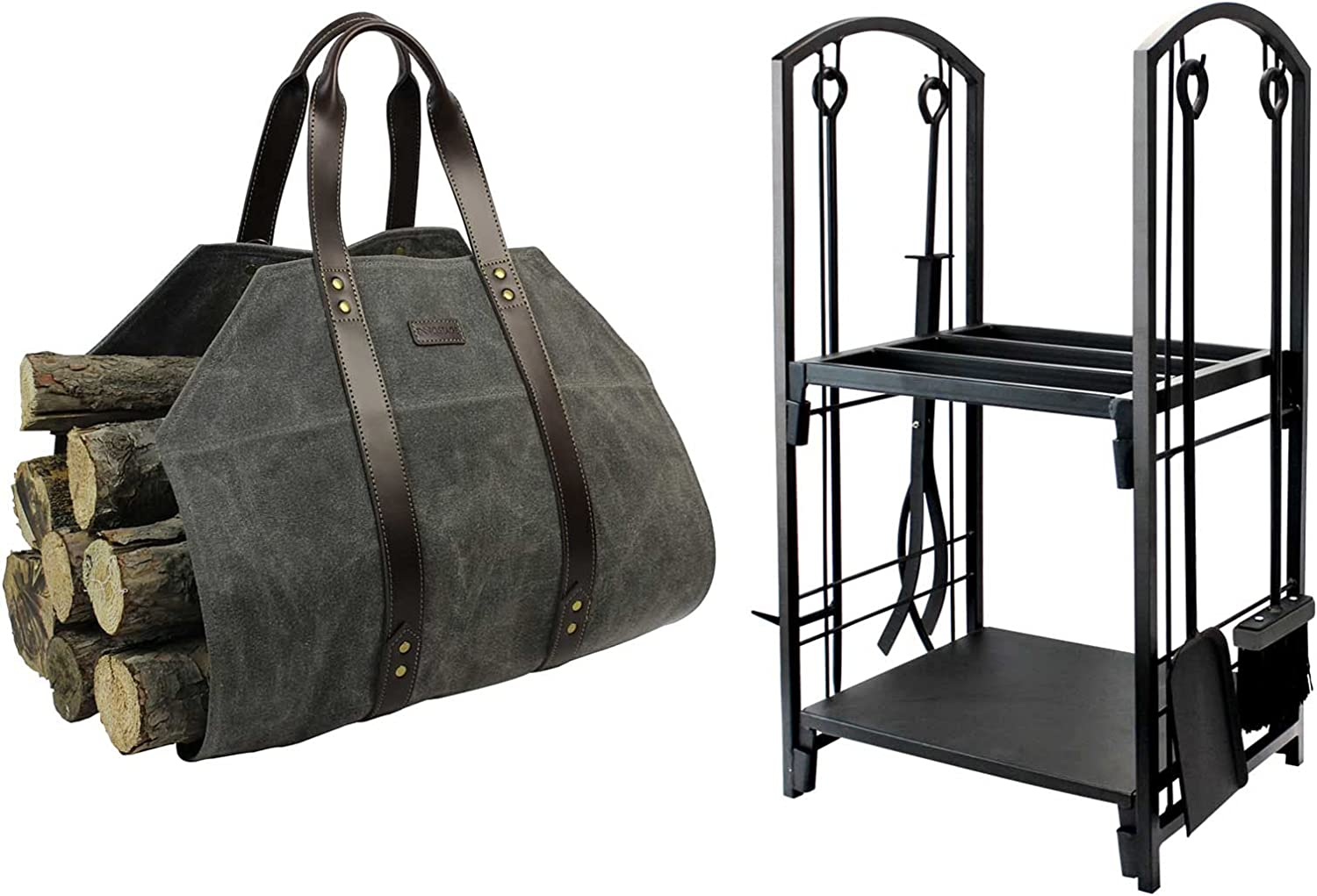 Log Carrier Waxed Canvas Holder Sales for sale Jacksonville Mall Rack Firewood Ho and Bin