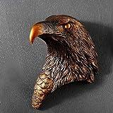 Esculturas,Cabeza De Águila Creativa Moderna Estatua Para Colgar En Pared Decoración Vintage Escultura Resina Figuras Decorativas Para El Hogar Salón De Arte Cabeza De Animal De Pared Decoración E