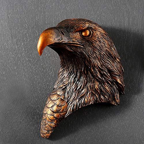 Esculturas,Cabeza De Águila Creativa Moderna Estatua Para Colgar En Pared Decoración Vintage...