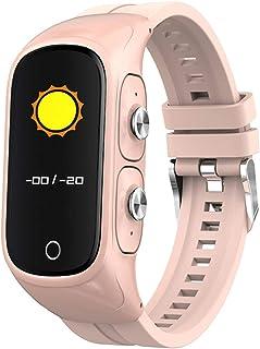 Rastreador de ejercicios, reloj de salud, monitorización de la frecuencia cardíaca y la presión arterial, rastreador de sueño impermeable, llamada bluetooth, adecuado para hombres y mujeres rosa