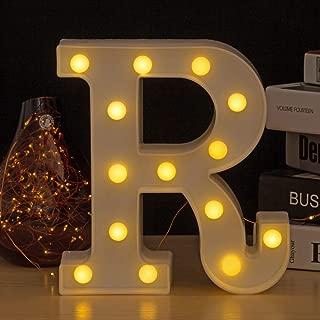 Youzone LED Marquee Letters Plastic LED Letter Lights Alphabet Light Up Sign Decoration Letters A - Z Symbol & (R)