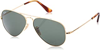 Ray-Ban 0rb3689 Aviator Sunglasses, Gold, 58.0 mm
