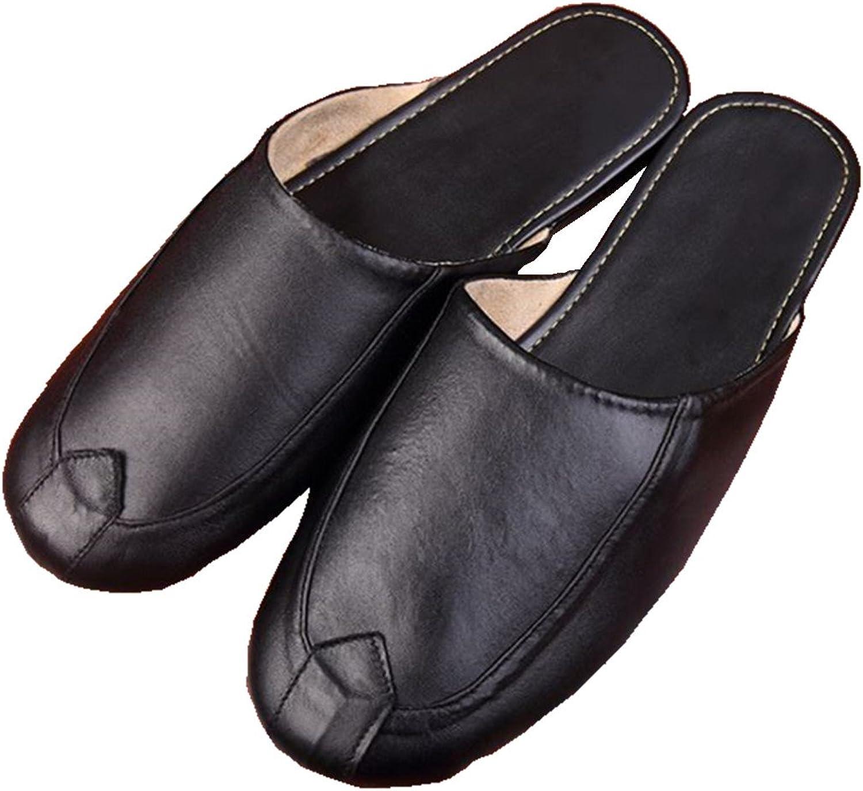 SamSAY, herrarnas herrarnas herrarnas Sheepsky läder Slipper  med 100% kvalitet och% 100 service