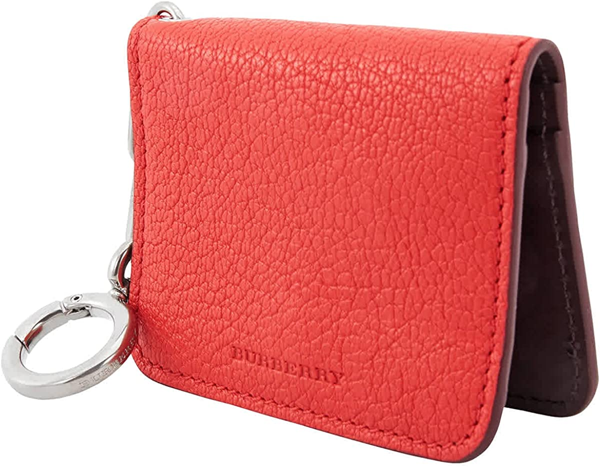 Burberry Camberwell Leather Id & Card Case- Bright Red