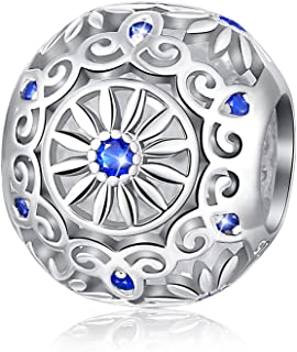 FOREVER QUEEN Candy Charm 925 Sterling Silver Sparkling Sweets Bead Charm with Colorful Cubic Zirconias fit Pandora Charm Bracelet Necklace for Women Daughter Wife Girlfriend Mother
