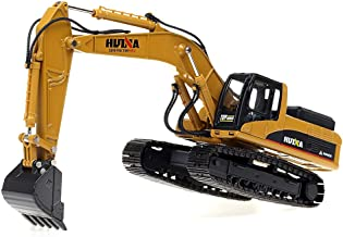 1/40 Scale Diecast Heavy Metal Excavator, Metal Construction Vehicles Trucks Toys for Boys Kids (Excavator(Metal Tracks and Hydraulic arms))